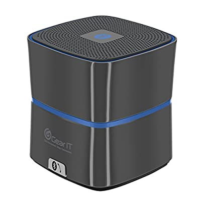 GearIt SoundCube Speaker, Compact Portable Bluetooth 4.0 Speaker with Built-in Mic and Speakerphone (Gunmetal) - 10 hours Rechargeable Battery