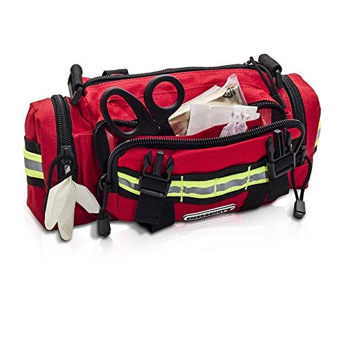 Elite Bags Rescue Waist Kit - Waist Pack | Functional and Comfortable | Elite Bags (Red)