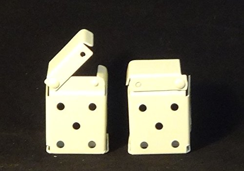 2 Pair: Mini Blind Bracket for 1 X 1 1/2 Headrail (inc. Bali): Metal (Box Style) Ivory Amazing Drapery Hardware