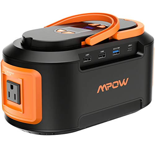 (Mpow 222Wh 60000mAh Generators Portable, Power Station Generator with AC Outlets, 4 DC Ports, USB Quick Charger 3.0, Emergency Rechargeable Power Inverter for Emergence Travel Home Camping (Orange))
