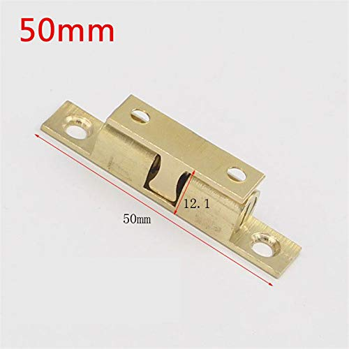 50pcs 50mm Wholesale Pure Copper Double Ball Latch Clip Lock Cabinet Door Catches Touch Beads Bronze Brass Color by Kasuki (Image #2)