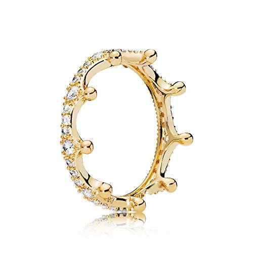 - Pandora Enchanted Crown Gold Size 9 Ring 167119CZ-60