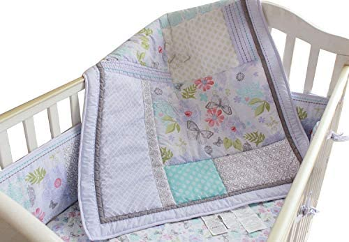 diaper stacker and changing pad cover Baby Girls Dream Butterflly 10pcs Crib Cot Bedding Set with musical mobile