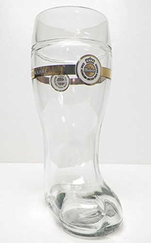 - Warsteiner German Beer Boot Glass 1 Liter