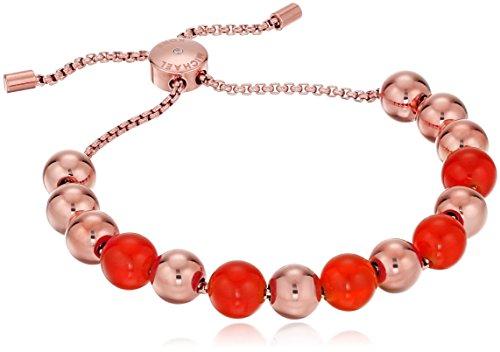 Michael Kors Semi Precious Adjustable Rose Gold Tone Bangle (Kors Michael Kors Womens Pop)