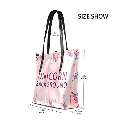 Unicornio De Asas Impresión Multicolor3 Deyya Hombro Mango Top Wo Bolsos Bolsa Mujer SXwwPEq0
