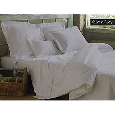 NEW YORK RAINBOW Genuine Premium Egyptian cotton 800 Thread Count, Made In USA - Imported Impression Italian Finish SILVER GREY GREY 4-Piece Sheet Set, 19 inches Deep Pocket, Single Ply, Solid QUEEN