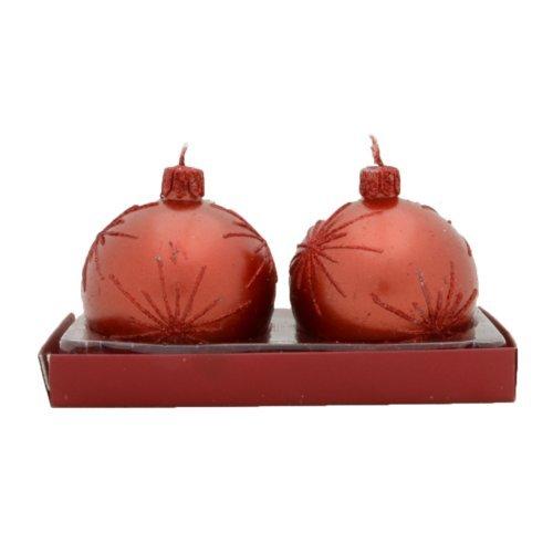 OKSLO The Holiday Aisle Firework Ball Novelty Candle (Set of 2)