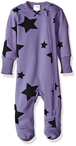 Blue Banana - Blue Banana Baby Girls Sleeper Side Zip, Purple, 9m