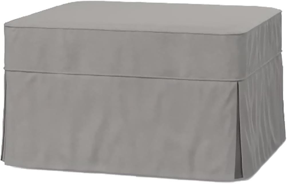 Marvelous The Cotton Ottoman Slipcover Replacement It Fits Pottery Barn Pb Basic Ottoman Dense Cotton Sofa Footstool Cover Basic Light Gray Gmtry Best Dining Table And Chair Ideas Images Gmtryco