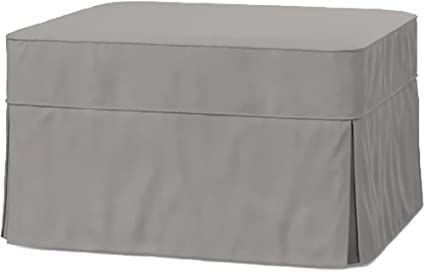 The Cotton Ottoman Slipcover Replacement. It Fits Pottery Barn PB Basic  Ottoman. Dense Cotton