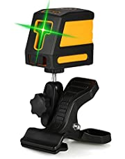 Anself Self-Leveling 2 Lines Green Laser Level Professional Horizontal and Vertical Cross Line Leveling Laser Level Kit with Selectable Laser Lines and Vertical Beam Spread