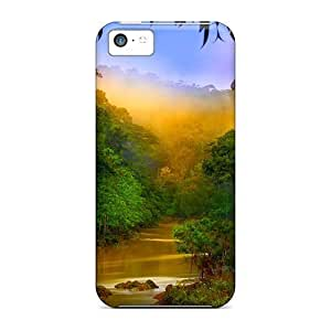 LJF phone case New Premium LatonyaSBlack Rain Forest River Valley Skin Case Cover Excellent Fitted For iphone 4/4s