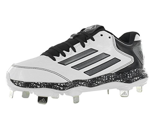 adidas Performance Women's PowerAlley 2 W Softball Cleat, White/Carbon/Black, 7 M US
