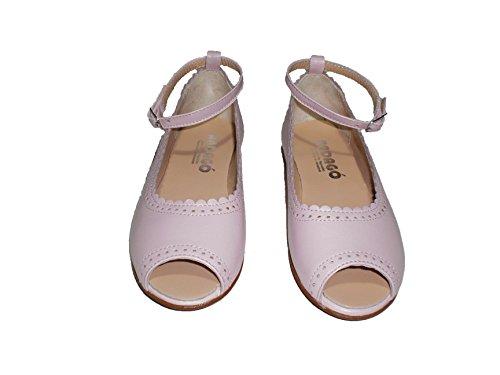Merceditas fille Rose en cuir de première qualité chaussures pour enfants Made in Spain produit de qualité.