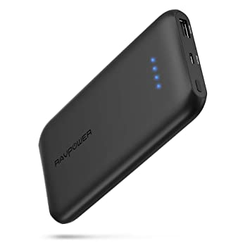 RAVPower Cargador portátil 10000 mAh, Power Bank Ultra Fina ...