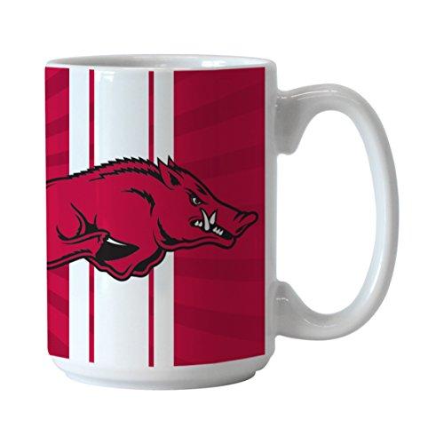 NCAA Arkansas Razorbacks Burst Mug, 15-ounce (Arkansas Razorbacks White Ceramic)