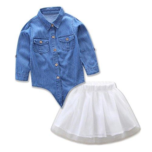 Robe Demin Femmes Set Manadlian Famille T Vêtements Maman Jupe Shirt Moi Fille Shirt T TzwB6A