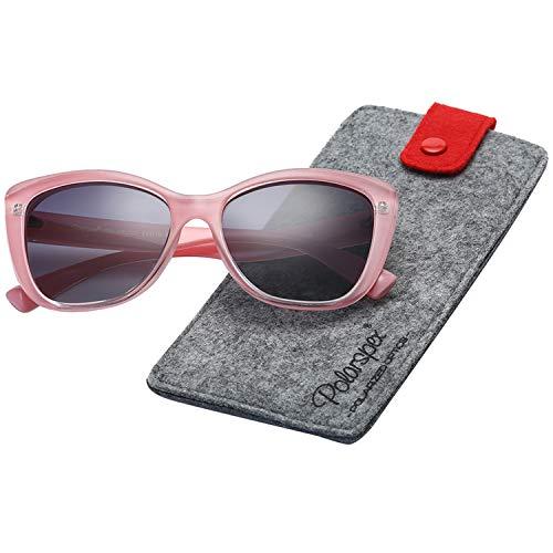 Polarspex Polarized Women's Oversized Square Jackie O Cat Eye Fashion Sunglasses (Princess Pink | Polarized Gradient Smoke, Smoke)]()