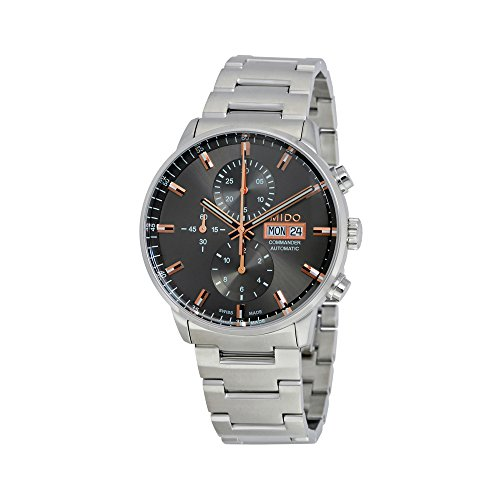 Mido Commander II Gray Dial Steel Men's Swiss Automatic Watch M0164141106100