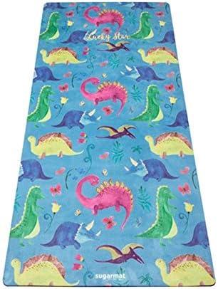 Yoga mat 天然ゴムスエードスエードヨガマットノンスリップ高温スポーツ親子印刷子供の特殊パッド workout (色 : Blue, サイズ : 3mm)