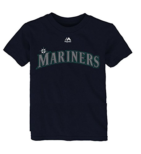 Ken Griffey Jr Seattle Mariners #24 Youth Name & Number T-Shirt Navy (Youth Large 14/16) (Ken Mariners Seattle)