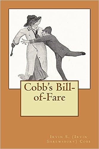 amazon cobb s bill of fare irvin s irvin shrewsbury cobb humor