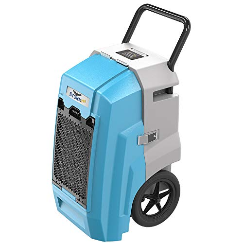 AlorAir Storm Pro Commercial Dehumidifier 180 PPD, LGR Portable Dehumidifier with Pump, cETL Listed, 5 Years Warranty, LCD Display, for Clean-Up, Flood, Moisture (Blue) (Dehumidifier Commercial)