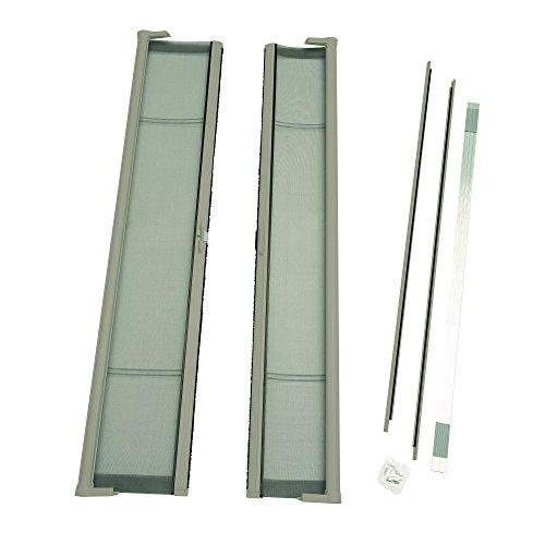 ODL Brisa Premium Retractable Screen Kit for 80 in. Inswing Hinged Double Doors - Sandstone