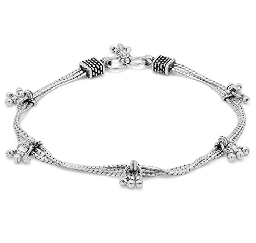 D&D Crafts 925 Sterling Silver Astonishing Link Anklets For Girls, Women by D&D (Image #2)