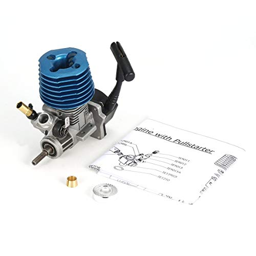 1.14CC 07 Side Exhaust Metal Engine Hand Pull Starter for 1/12 Radio Controlled Cars Machines On Remote Control Toys - Blue