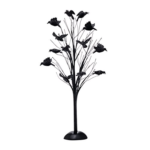 Department 56 Halloween Village Murder of Crows Tree Accessory Figurine]()