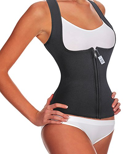 Gotoly Slimming Neoprene Vest Hot Sweat Shirt Body Shapers for Smooth Muffin Top (4XL, Black)