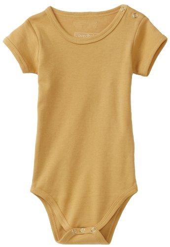 L'ovedbaby Unisex-Baby Short Sleeve Bodysuit, Caramel, 18-24 Months