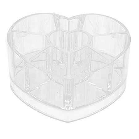 Amazon.com: eDealMax corazón de acrílico maquillaje joyería hogar en Forma de caja de almacenaje del cepillo Organizador Claro: Home & Kitchen