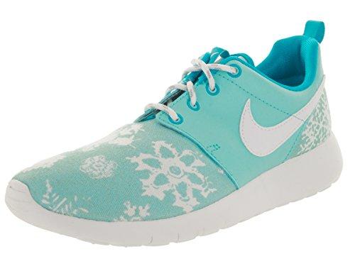 Nike Roshe One Print Mädchen US 6.5 Blau Turnschuhe