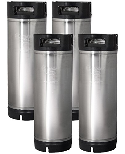 New Kegco 5 Gallon Ball Lock Pepsi Cornelius Keg - Rubber Handle - Set of 4