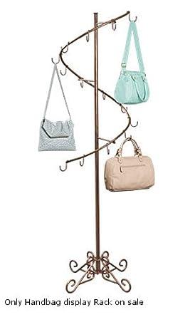 Amazon Com New Cobblestone Spiral Handbag Display Rack With 14