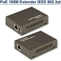 TPEKKA PoE 100M Extender PnP Power over Ethernet IP CCTV Security Camera IEEE 802.3at