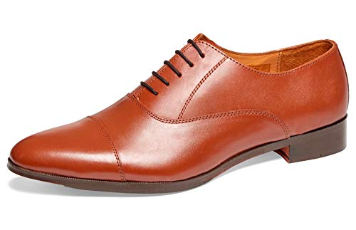 Blake Oxford - Carlos by Carlos Santana Men's 'Legacy' Cap-Toe Oxford Shoes in Blake Construction (12 D, Tan)
