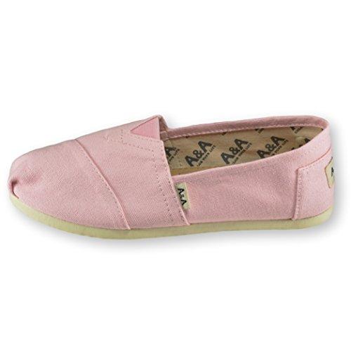 A & A Classic A Slip-on Canvas Alpargatas, Casual Zapatos Para Mujeres Y Hombres (unisex) Pink