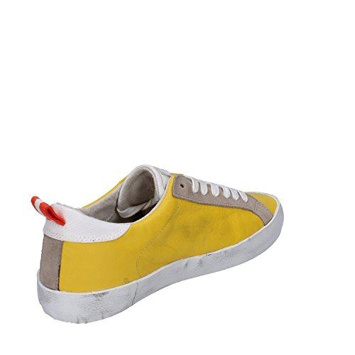 D.a.t.e. Date Sneakers Damen 37 EU Gelb Leder Wildleder