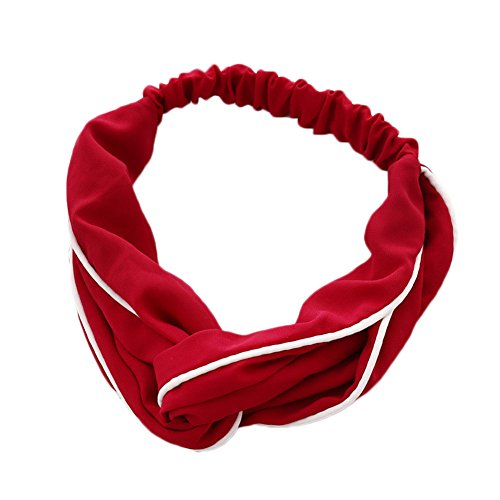 Wide-brimmed Head Band for Women Red - 2
