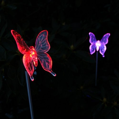 Bon Solar Garden Butterfly Stake Lights, 2 Piece By I Horizon Plus By I