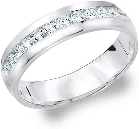 Platinum Diamond Men's Channel Set Ring (.50 cttw, H-I Color, I1-I2 Clarity)