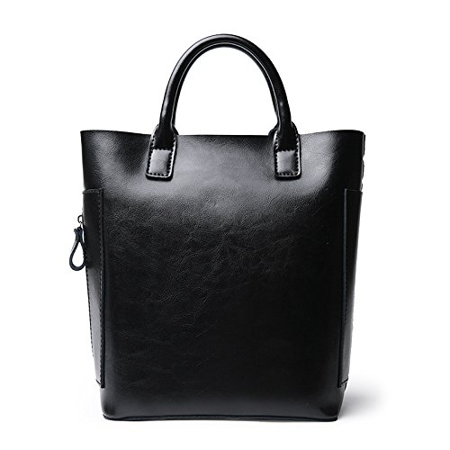 GUANGMING77 Schultertasche_Bucket Bag Einfach Schulter Hand black