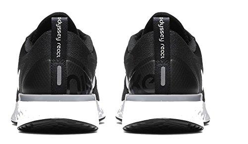 Nike Mens Odyssey Reagire Scarpe Da Corsa Nero / Bianco-lupo Grigio