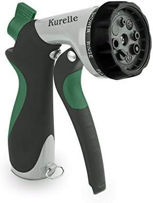 Kurelle Pistola Manguera Jardin - 8 Modelos de Boquillas Boquilla de Alta Presión de Metal Apto para Lavar Coches, Limpiar Césped, Regar el Plantas: Amazon.es: Jardín