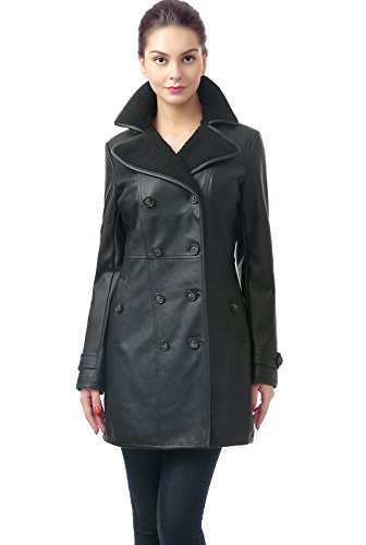 Long Black Leather Coat - 8