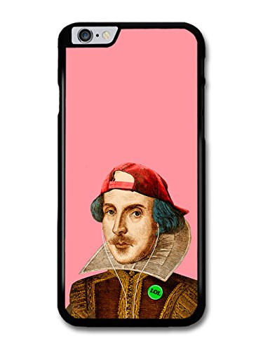 Cool Shakespeare Hipster Illustration on Pink coque pour iPhone 6 Plus 6S Plus